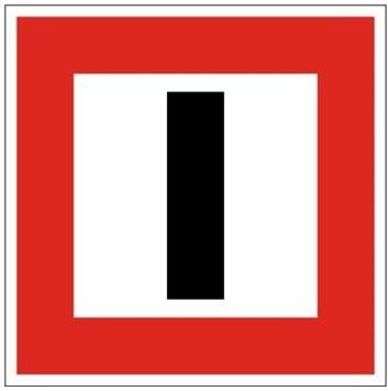Plavební znak B8 - Příkaz zachovávat zvláštní pozornost