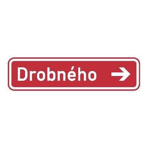 Dopravní značka - Informativní - Označení názvu ulice, IS22e, 1000 x 200mm