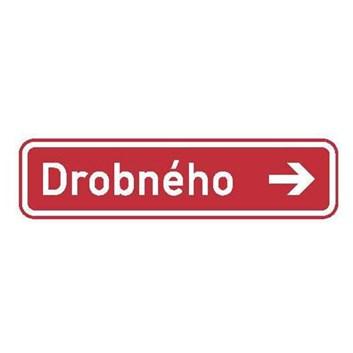 Dopravní značka IS22e - Označení názvu ulice