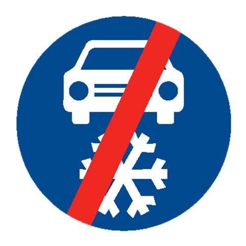 Dopravní značka - Zimní výbava - konec