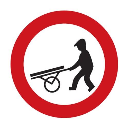 Dopravní značka - Zákaz vjezdu ručních vozíků, 700mm