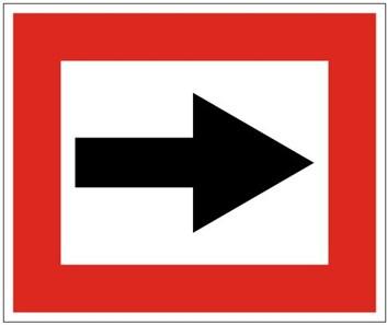 Plavební znak B1 - Příkaz plout ve směru stanoveném šipkou