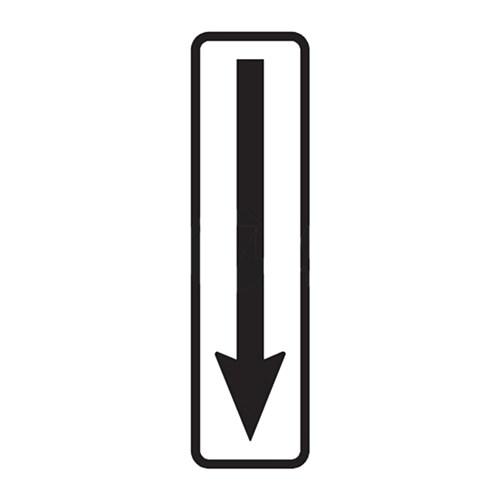 Dopravní značka - Dodatková tabulka -Konec úseku, E8c, 500 x 150mm