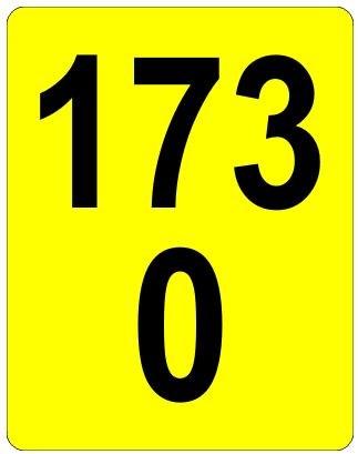 Železniční značka - Staničník žlutý