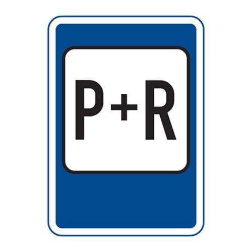 Dopravní značka - Parkoviště P+R,  500 x 700mm