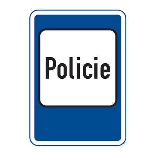 Dopravní značka - Policie, 500 x 700mm