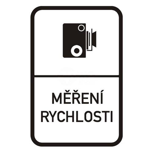 Dopravní značka - Měření rychlosti, 1000 x 1500mm