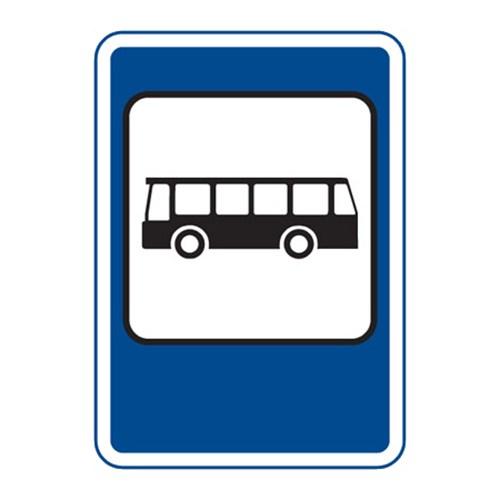 Dopravní značka - Zastávka autobusu, 500 x 700mm
