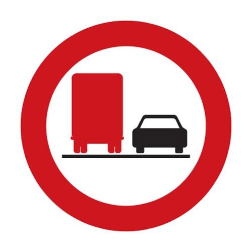 Dopravní značka - Zákaz předjíždění pro nákladní automobily