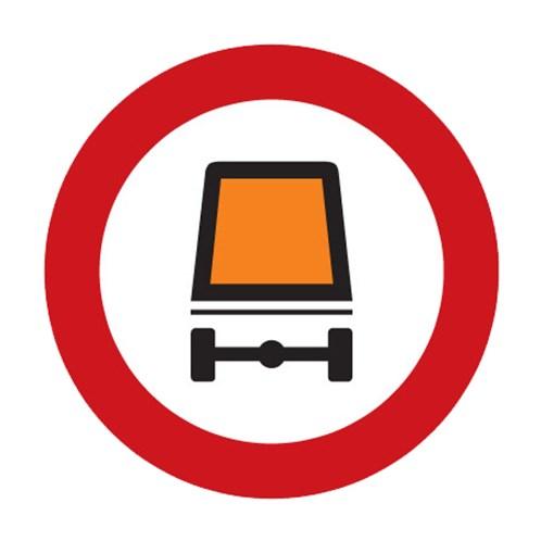 Dopravní značka - Zákaz vjezdu vozidel přepravujících nebezpečný náklad