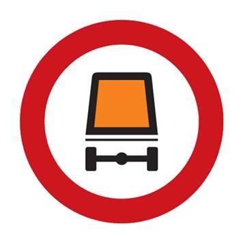 Dopravní značka B18 - Zákaz vjezdu vozidel přepravujících nebezpečný náklad