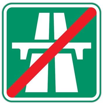 Dopravní značka IZ1b - Konec dálnice