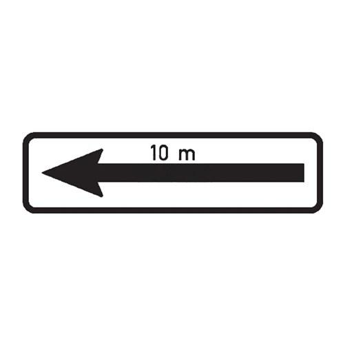 Dopravní značka - Dodatková tabulka -Úsek platnosti, E8d, 500 x 150mm