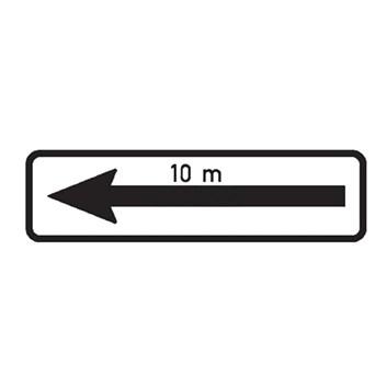 Dopravní značka E8d - Úsek platnosti