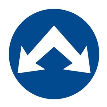 Dopravní značka C4c - Přikázaný směr objíždění vpravo i vlevo