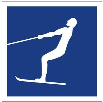 Plavební znak E17 -Vodní lyžování povoleno