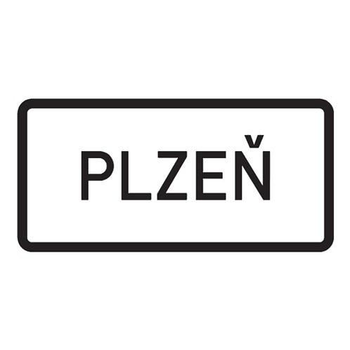 Dopravní značka - Obec,  1000 x 500mm