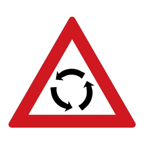 Dopravní značka - Pozor, kruhový objezd
