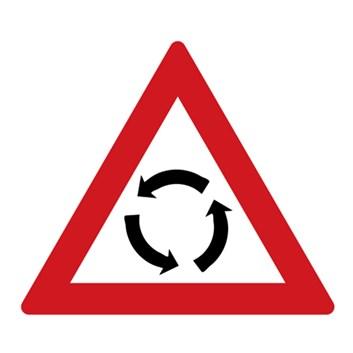 Dopravní značka A4 - Pozor, kruhový objezd