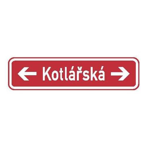 Dopravní značka - Informativní - Označení názvu ulice, IS22f, 1000 x 200mm