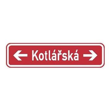 Dopravní značka IS22f - Označení názvu ulice
