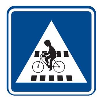 Dopravní značka IP7 - Přejezd pro cyklisty