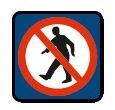 Železniční značka - Průchod pro pěší zakázán