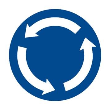 Dopravní značka C1 - Kruhový objezd