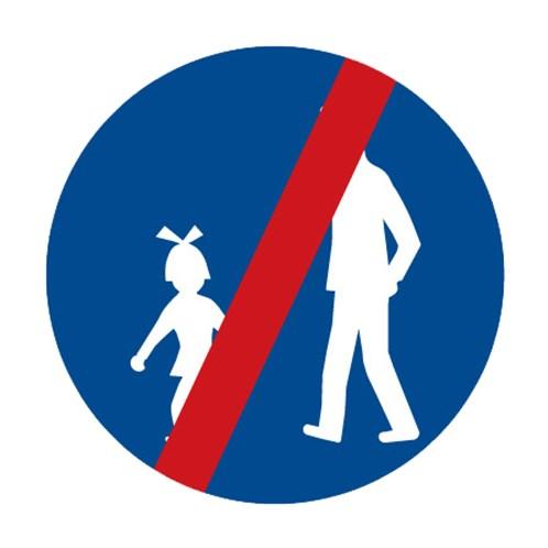 Dopravní značka - Konec stezky pro chodce