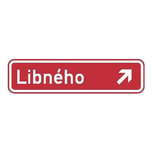 Dopravní značka - Informativní  - Označení názvu ulice, IS22d, 1000 x 200mm .