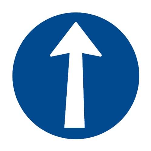 Dopravní značka - Přikázaný směr jízdy přímo