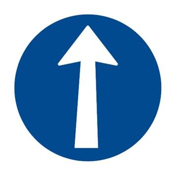 Dopravní značka C2a - Přikázaný směr jízdy přímo