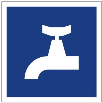 Plavební znak E13 - Místo odběru pitné vody