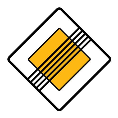 Dopravní značka - Konec hlavní pozemní komunikace