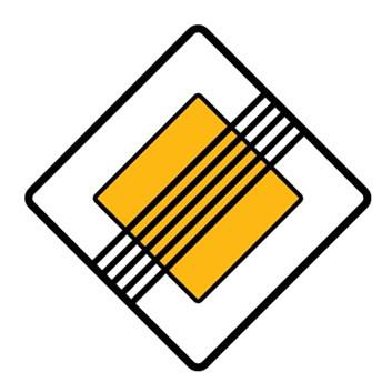 Dopravní značka P3 - Konec hlavní pozemní komunikace