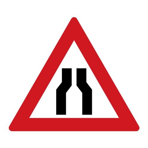 Dopravní značka - Zúžená vozovka (z obou stran)