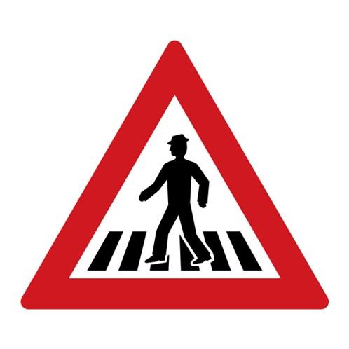 Dopravní značka - Pozor, přechod pro chodce