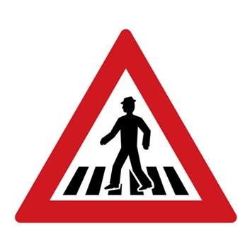 Dopravní značka A11 - Pozor, přechod pro chodce
