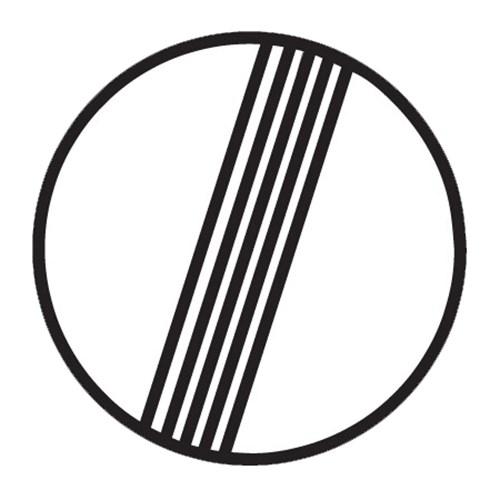 Dopravní značka - Konec všech zákazů, 500mm