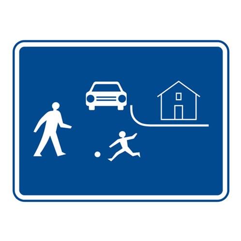 Dopravní značka - Obytná zóna, 1000 x 750mm
