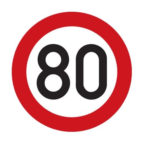 Dopravní značka - Nejvyšší dovolená rychlost