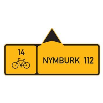 Cyklo značka IS19a - Směrová tabule pro cyklisty (s jedním cílem)