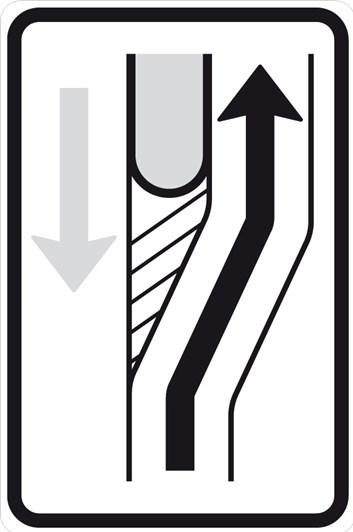 Dopravní značka IS10c - Návěst změny směru jízdy
