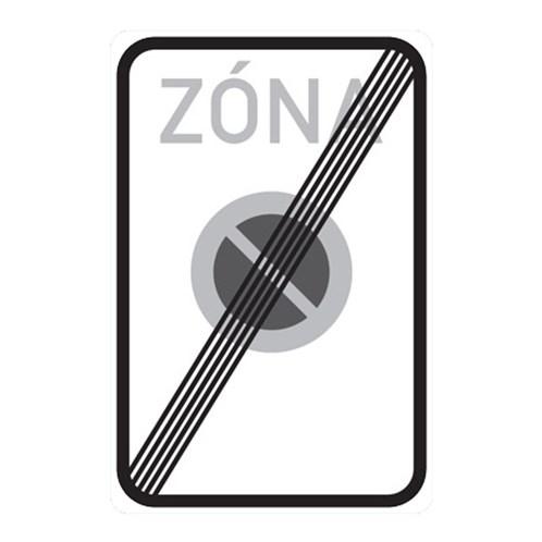 Dopravní značka - Konec zóny s dopravním omezením,  750 x 1000mm
