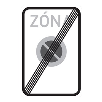 Dopravní značka IZ8b - Konec zóny s dopravním omezením