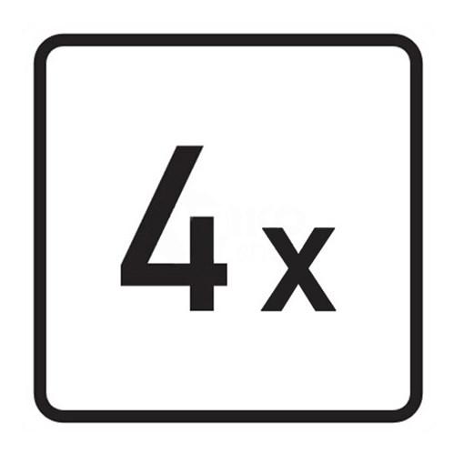 Dodatkové tabule  - Dodatková tabulka - Počet, E1, 500mm