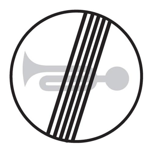 Dopravní značka - Konec zákazu zvukových výstražných znamení