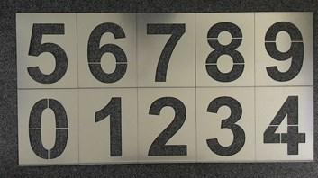 Kovové šablony číslic, 200mm