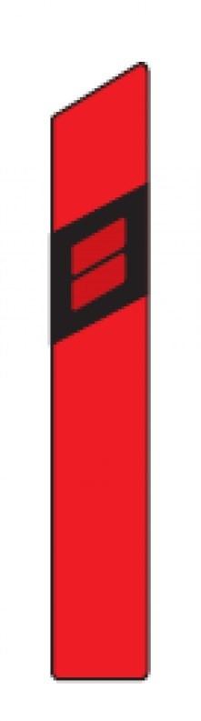 Směrový sloupek Z11 červený, 1200mm