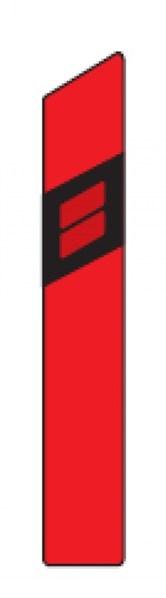 Směrový sloupek Z11c červený